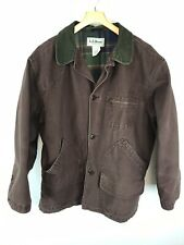 Vtg Men's L.L. Bean Denim Brown Jacket XL Xtra Large