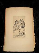 Vintage Etching Print 'STIRLING CASTLE' PRESTON CRIBB Signed by Artist