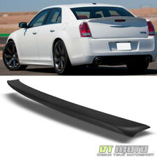 11-17 Chrysler 300 300C 300S Factory Style Rear Trunk Spoiler Lip Matte Black