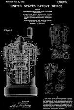 1952 - Curta Pocket Mechanical Calculator - C. Herzstark - Patent Art Poster