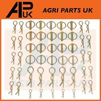 50 pcs Assorted Linch Pins & Grip R Clips Tractor Plant Digger Trailer Linkage