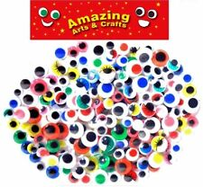 200 wiggle wiggly googly eyes assorted types Colours and sizes 10mm 12mm 15mm