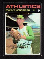 1971 Topps #84 Marcel Lachemann Oakland Athletics Baseball ROOKIE Card EX