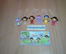 DORA THE EXPLORER COMPLETE SET OF 6 WITH ALL PAPERS KINDER SURPRISE 2017