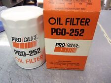 Pro Gauge Engine Oil Filter PGO-252 51342 NEW NOS FREE Shipping