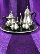 Royal Holland Pewter 4-Piece Tea Set Sleepy Hollow Restorations Reproduction