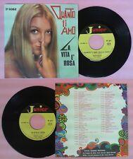LP 45 7'' GIONCHETTA Quanto ti amo LELLA La vita e ORCHESTRA JUNIOR no cd mc dvd