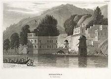 HARIDWAR - HAR KI PAURI AM GANGES - Meyer's Universum - Stahlstich 1837