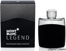 Mont Blanc Legend For Men 3.3 / 3.4 oz 100 ml Eau de Toilette perfume New in box