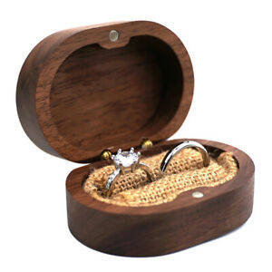 Wood jewelry Ring Box Rustic Wedding Ring Holder Collection Display Gift Bof2