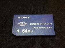 Sony 64MB Memory Stick Pro Duo Card For PSP 1000 2000 3000 Console