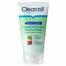 Clearasil Daily Clear Vitamins & Extracts Wash & Mask 150ml Avocado Girls Face