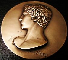 MÉDAILLE - JEUNESSE ET SPORTS - d'APRES L'ANTIQUE- bronze -par Delannoy