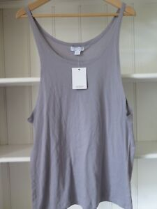 COTTON ON Sz M Dove Grey Oversize Cotton Top with Dropped Armholes BNWTGS