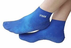 CHEX Verruca Guard Latex Aqua Swim Hygiene Swimming Pool Protection Socks Blue