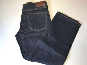 Lands' End Men's Coupe Simple Regular Fit 5 Pocket Jeans, Deep Blue Sea, 36X30