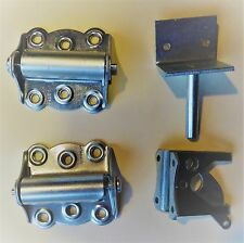2 SPRING HINGES AND LATCH KIT FOR GATE