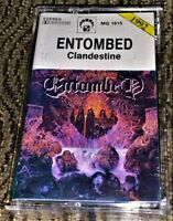 Entombed ‎– Clandestine. VG Cassette Tape MC Plays Well Rare Death Metal.