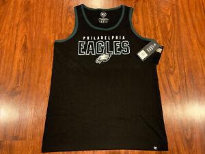 '47 Brand Mens Philadelphia Eagles Double Down Tank Top Jersey Shirt Large L NFL