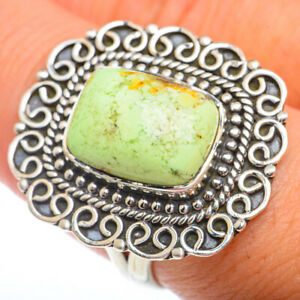 Lemon Chrysoprase 925 Sterling Silver Ring Size 9 Ana Co Jewelry R73236F