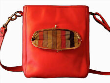 BONNIE CASHIN COACH RED Leather Bag Messenger Crossbody NYC Pre Creed VTG 60s