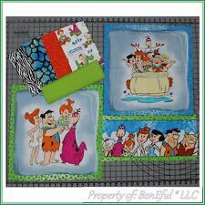 BonEful Fabric COTTON QUILT Block LOT 1 YD BTHY Flintstones Pebbles Bam Bam Fred
