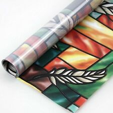 Fancy-fix Vinyl Static Window Cling Stained Glass Decorative Privacy Window Film