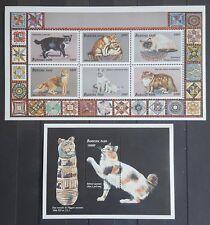 Briefmarken Katzen Burkina Faso Bl.+KB.,postfrisch