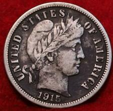 1915-S San Francisco Mint Silver Barber Dime