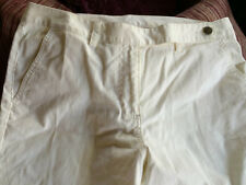 Size 14 Women Pants Ruby Rd. White Canvas Back And Front Pockets Cotton blend