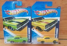 HOT WHEELS 2012 MUSCLE MANIA 9/10 '70 (PLYMOUTH) ROADRUNNER 89/247 x2 (A+/A)