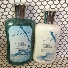 New Dancing Waters Bath And Body Works 8 Oz Body Lotion 10 Shower Gel Full Size