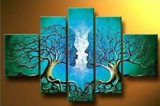 Blue Tree Human Body Canvas Paintings Wall Art Prints Picture Photo Framed Decor