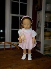 """GOTZ -VINTAGE- SYLVIA NATTERER FANOUCHE AND FRIENDS 14"""" DOLL BROWN HAIR AND EYES"""