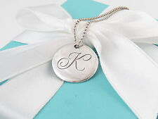 TIFFANY & CO SILVER ALPHABET K NECKLACE 18 INCH BOX INCLUDED