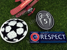 2014-2017 Champions League Soccer Patch Set 5 Trophy Barcelona Liverpool 17-18