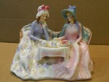 "Rare Royal Doulton ""Afternoon Tea"" Figurine 2 Woman at Teatime # Hn1747 Retired"