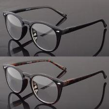 Bifocal Reading Glasses Retro Round Vintage Men Women Spring Temple