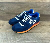 OPP FRANCE Blue & Orange Suede Lace Up 0S173168 Casual Sneakers Men's Size 7 US