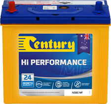 CENTURY NS6OMF HIGH PERFORMANCE BATTERY QUALITY AUSTRALIAN MADE 24 MONTHS NATIO