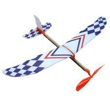 Elastisches Gummiband angetriebenes DIY Flugzeug Modell Aircraft Geschenk Kinder