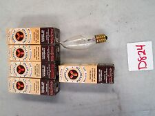 """Yorkville """"Pacesetter"""" Chandelier Bulb #PS923 10W 120V Flame Clear Lot of 6(NIB)"""