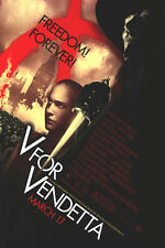 V for Vendetta rEGULAR Original Movie Poster Double Sided 27X40