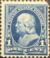 Scott #247 US 1894 One Cent Franklin Bureau Postage Stamp XF