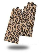 Leopard Winter Gloves For Women's Genuine Leather Glove Mittens Hand Wrists New