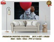 IT Pennywise Scary Clown Movie Poster Art Print Gift A0 A1 A2 A3 A4 A5 Maxi