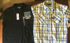 NWT -MEN'S LOT OF 2 ECKO UNLTD. DRESS AND POLO SHIRT (L) $80 RETAIL