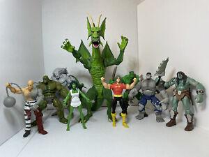 Marvel Legends Fin Fang Foom BAF Complete with Loose Action Figures 2007 Ltd Ed.