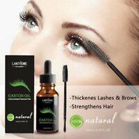 1/2x Pure Natural Castor Oil for Hair Eyelash Eyebrow Growth Enhancer Serum Lash