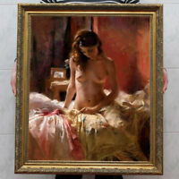 "Hand-painted Original Oil painting art Impressionism nude girl on Canvas 30""X40"""